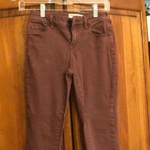 Skinny jeans maroon